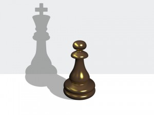 http://www.dreamstime.com/royalty-free-stock-photography-chess-pawn-shadow-king-made-d-software-image30564347